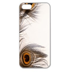Peacock Feathery Background Apple Seamless iPhone 5 Case (Clear)