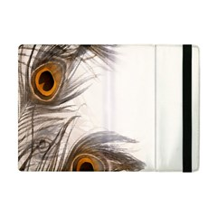 Peacock Feathery Background Apple iPad Mini Flip Case