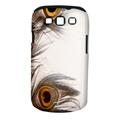 Peacock Feathery Background Samsung Galaxy S III Classic Hardshell Case (PC+Silicone)