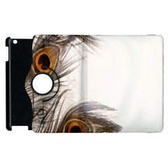 Peacock Feathery Background Apple iPad 2 Flip 360 Case