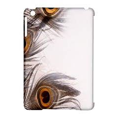 Peacock Feathery Background Apple iPad Mini Hardshell Case (Compatible with Smart Cover)