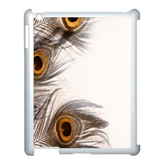 Peacock Feathery Background Apple iPad 3/4 Case (White)