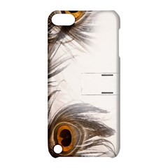 Peacock Feathery Background Apple iPod Touch 5 Hardshell Case with Stand