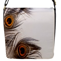 Peacock Feathery Background Flap Messenger Bag (S)
