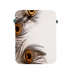Peacock Feathery Background Apple Ipad 2/3/4 Protective Soft Cases