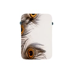 Peacock Feathery Background Apple iPad Mini Protective Soft Cases