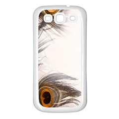 Peacock Feathery Background Samsung Galaxy S3 Back Case (white)
