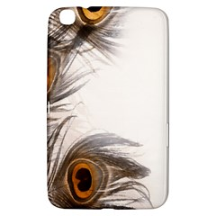 Peacock Feathery Background Samsung Galaxy Tab 3 (8 ) T3100 Hardshell Case