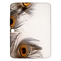 Peacock Feathery Background Samsung Galaxy Tab 3 (10.1 ) P5200 Hardshell Case