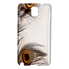 Peacock Feathery Background Samsung Galaxy Note 3 N9005 Hardshell Case