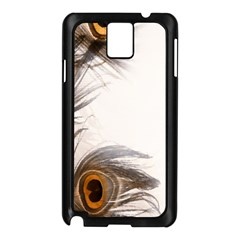 Peacock Feathery Background Samsung Galaxy Note 3 N9005 Case (Black)