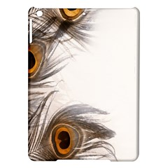 Peacock Feathery Background iPad Air Hardshell Cases
