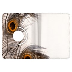 Peacock Feathery Background Kindle Fire HDX Flip 360 Case