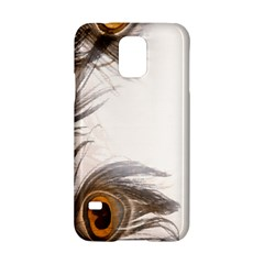 Peacock Feathery Background Samsung Galaxy S5 Hardshell Case