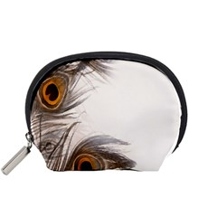 Peacock Feathery Background Accessory Pouches (Small)