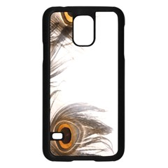 Peacock Feathery Background Samsung Galaxy S5 Case (Black)