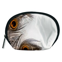 Peacock Feathery Background Accessory Pouches (Medium)