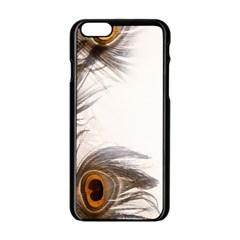 Peacock Feathery Background Apple iPhone 6/6S Black Enamel Case