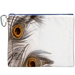Peacock Feathery Background Canvas Cosmetic Bag (XXXL)