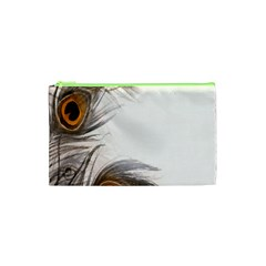 Peacock Feathery Background Cosmetic Bag (xs)