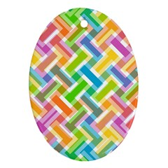 Abstract Pattern Colorful Wallpaper Ornament (Oval)