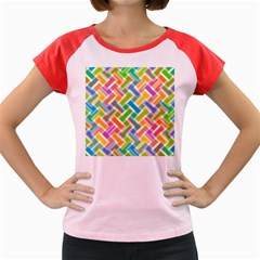 Abstract Pattern Colorful Wallpaper Women s Cap Sleeve T Shirt