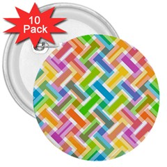 Abstract Pattern Colorful Wallpaper 3  Buttons (10 pack)