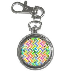 Abstract Pattern Colorful Wallpaper Key Chain Watches