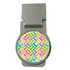 Abstract Pattern Colorful Wallpaper Money Clips (round)