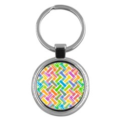 Abstract Pattern Colorful Wallpaper Key Chains (round)