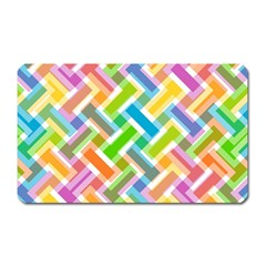 Abstract Pattern Colorful Wallpaper Magnet (Rectangular)