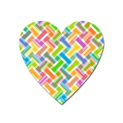 Abstract Pattern Colorful Wallpaper Heart Magnet