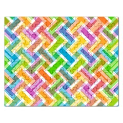 Abstract Pattern Colorful Wallpaper Rectangular Jigsaw Puzzl