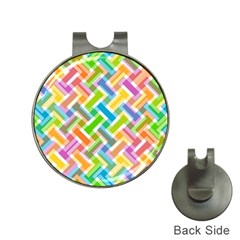 Abstract Pattern Colorful Wallpaper Hat Clips with Golf Markers