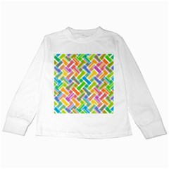 Abstract Pattern Colorful Wallpaper Kids Long Sleeve T Shirts