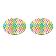 Abstract Pattern Colorful Wallpaper Cufflinks (Oval)