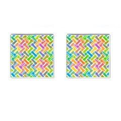 Abstract Pattern Colorful Wallpaper Cufflinks (square)