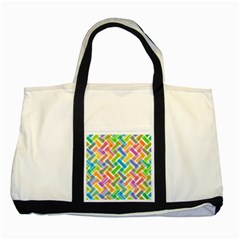 Abstract Pattern Colorful Wallpaper Two Tone Tote Bag