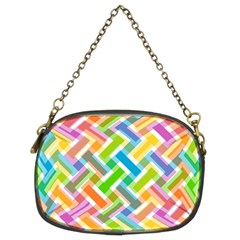 Abstract Pattern Colorful Wallpaper Chain Purses (two Sides)