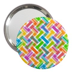 Abstract Pattern Colorful Wallpaper 3  Handbag Mirrors