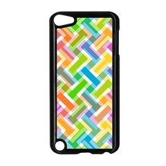Abstract Pattern Colorful Wallpaper Apple Ipod Touch 5 Case (black)