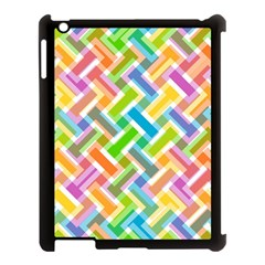Abstract Pattern Colorful Wallpaper Apple iPad 3/4 Case (Black)