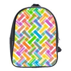 Abstract Pattern Colorful Wallpaper School Bags (XL)