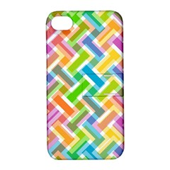 Abstract Pattern Colorful Wallpaper Apple iPhone 4/4S Hardshell Case with Stand