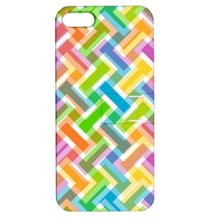 Abstract Pattern Colorful Wallpaper Apple iPhone 5 Hardshell Case with Stand