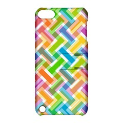 Abstract Pattern Colorful Wallpaper Apple iPod Touch 5 Hardshell Case with Stand