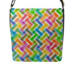 Abstract Pattern Colorful Wallpaper Flap Messenger Bag (L)