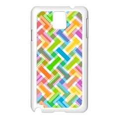 Abstract Pattern Colorful Wallpaper Samsung Galaxy Note 3 N9005 Case (White)