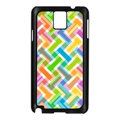 Abstract Pattern Colorful Wallpaper Samsung Galaxy Note 3 N9005 Case (Black)