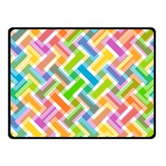 Abstract Pattern Colorful Wallpaper Double Sided Fleece Blanket (Small)